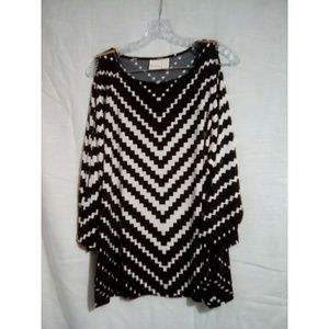 Chico's Women's Sz 3 or XL Black White Pattern